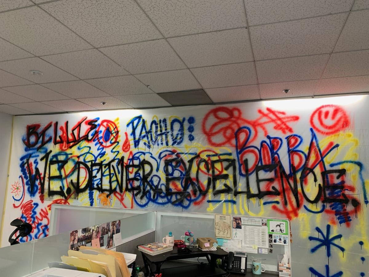 Borba Property COVID-19 Office Wall